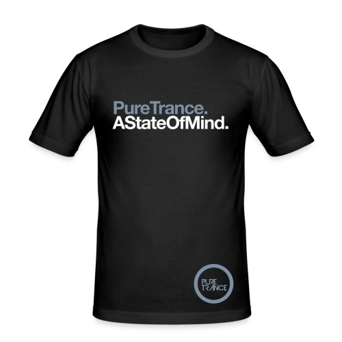 A State Of Mind... [Male] Metallic / White - Men's Slim Fit T-Shirt