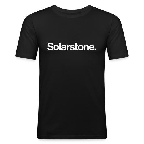 Solarstone [Male] White on Black - Men's Slim Fit T-Shirt