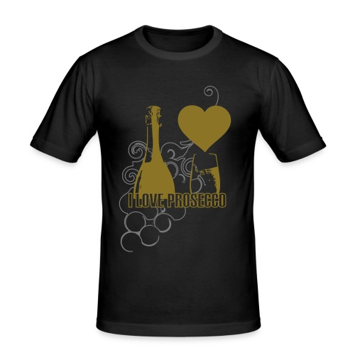 I Love Prosecco - Man Fit DELUXE Love Grapes - Men's Slim Fit T-Shirt