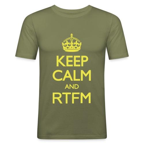 "Tee-shirt Homme ""Keep calm and RTFM"" - T-shirt près du corps Homme"