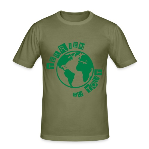 """Tee-shirt Homme """"Terrien du tout"""" - T-shirt près du corps Homme"""