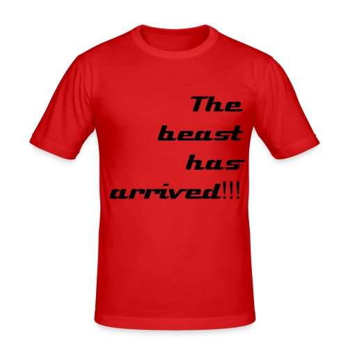 the beast is here - Men's Slim Fit T-Shirt