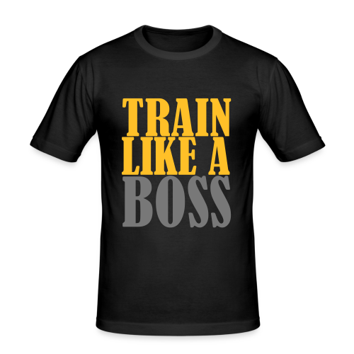 Train Like a Boss Frontprint - Männer Slim Fit T-Shirt