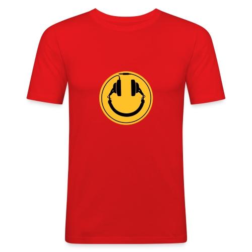 Koptelefoon smiley 2 Slimfit - slim fit T-shirt