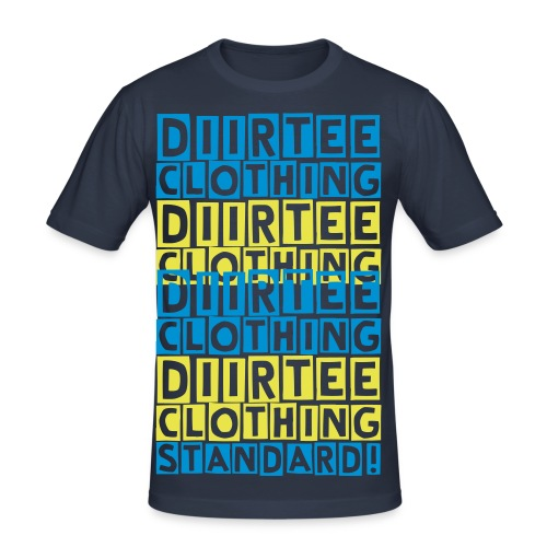 Diirtee Clothing Standard (Y/B) - Men's Slim Fit T-Shirt