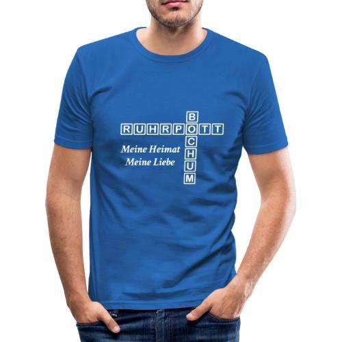 Ruhrpott Bochum Meine Heimat, meine Liebe - Slim T-Shirt - Männer Slim Fit T-Shirt
