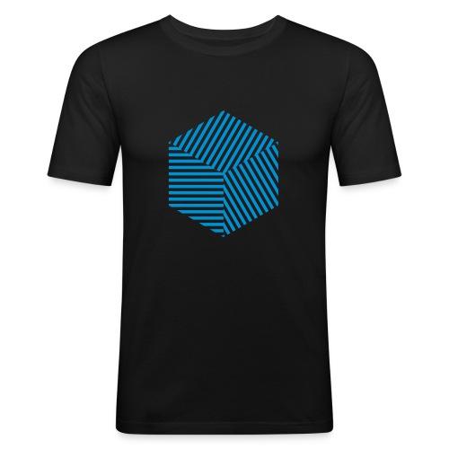 Linien-Quader - Männer Slim Fit T-Shirt