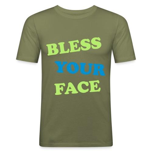 bless your/peace off - Men's Slim Fit T-Shirt
