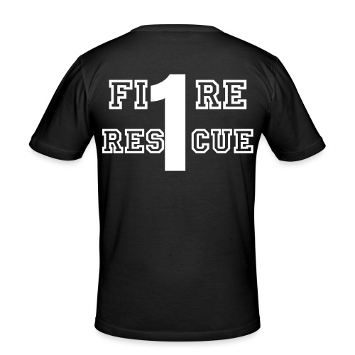 FDNY Shirt Fire Rescue Company 1 - Männer Slim Fit T-Shirt