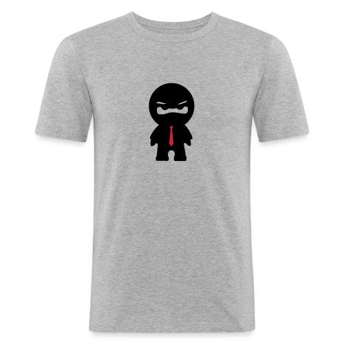 Ninja mit roter Krawatte - Männer Slim Fit T-Shirt