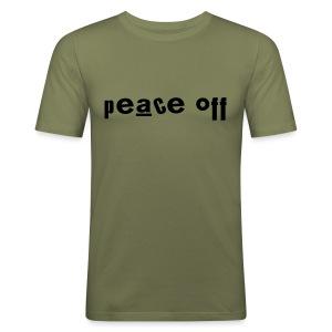 Peace Off - Men's Slim Fit T-Shirt