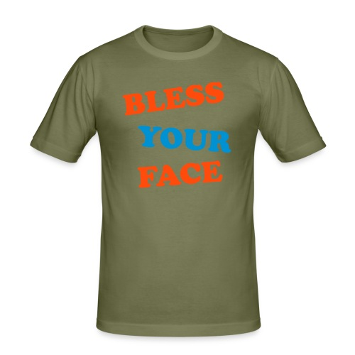 """BLESS YOUR FACE"" - Men's Slim Fit T-Shirt"