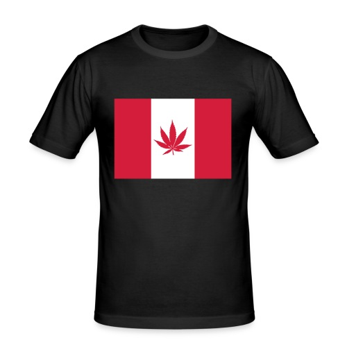Canabian Flag - Men's Slim Fit T-Shirt