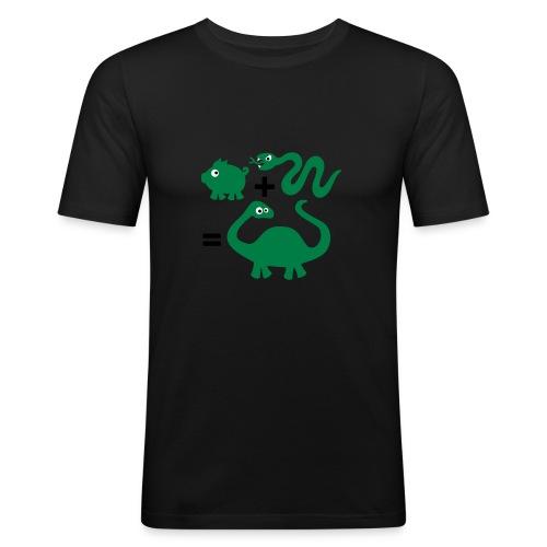 slang + varken = dinosaurus Slimfit - slim fit T-shirt