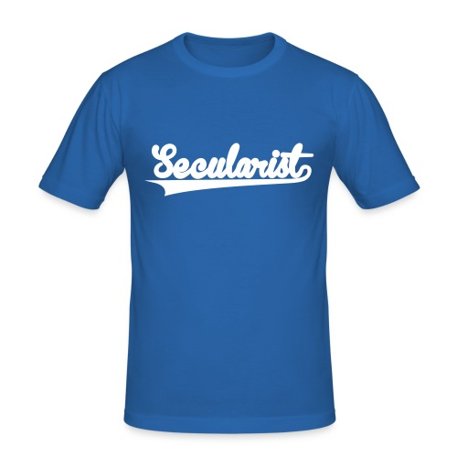 Secularist - baseball design - Men's Slim Fit T-Shirt