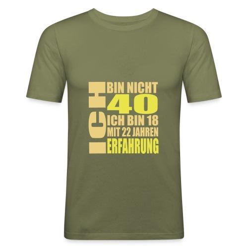 Zum 40. Geburtstag - Männer Slim Fit T-Shirt