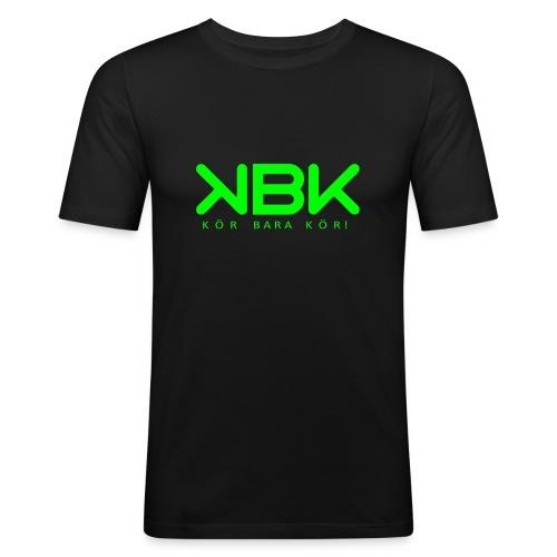 KBK Neongrön - Slim Fit T-shirt herr