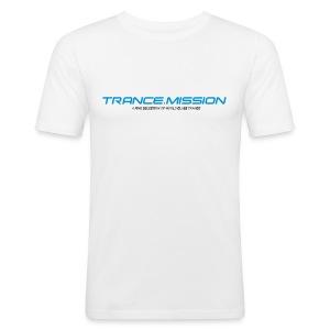 Trance.Mission (m) slim fit (white) - Männer Slim Fit T-Shirt