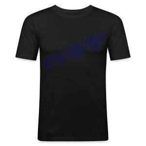 KEEP FIGHTING - DONS DRESSING ROOM SIGN - Men's Slim Fit T-Shirt