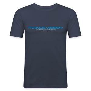 Trance.Mission (m) slim fit (dark navy) - Männer Slim Fit T-Shirt