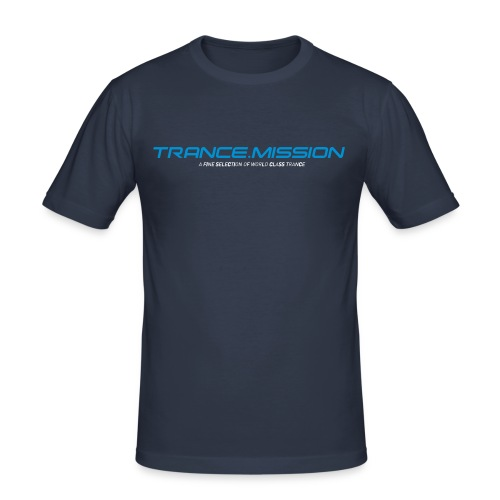 Trance.Mission (m) slim fit (dark navy) - Männer Slim Fit T-Shirt