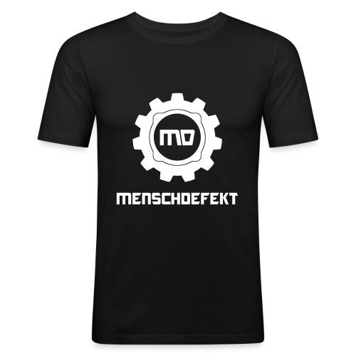 Menschdefekt Logo Slim Fit T-Shirt - Männer Slim Fit T-Shirt