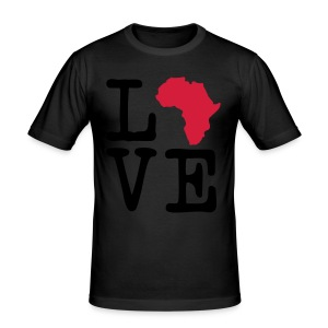 I Love Africa, I Heart Africa - Men's Slim Fit T-Shirt