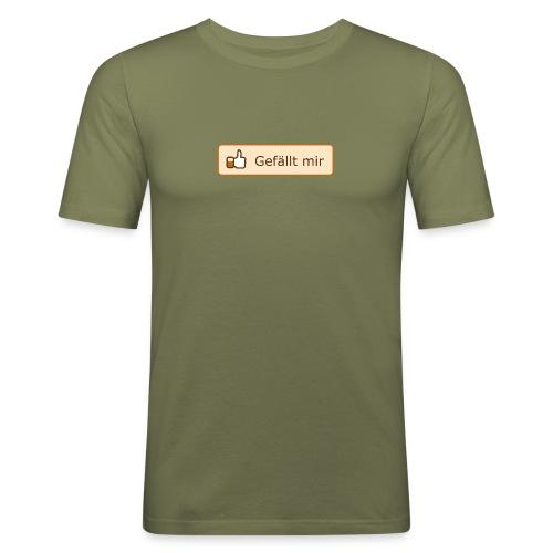 Slim Olive - Männer Slim Fit T-Shirt