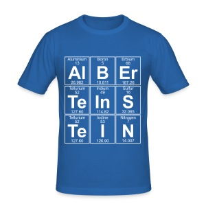 Al-B-Er-Te-In-S-Te-I-N (Albert Einstein) - Men's Slim Fit T-Shirt