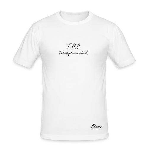 T.H.C Print. - Men's Slim Fit T-Shirt