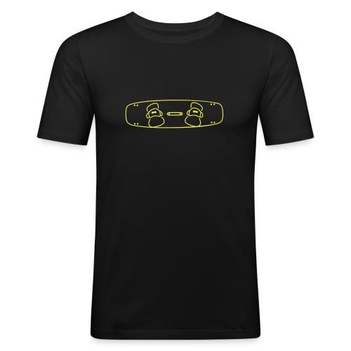 Kiteboard contour - Männer Slim Fit T-Shirt