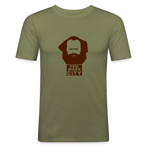 Karl Marx City - Männer Slim Fit T-Shirt