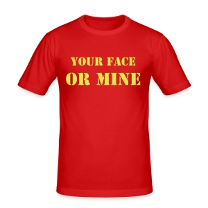 In Your Face (T-Shirt) - Men's Slim Fit T-Shirt