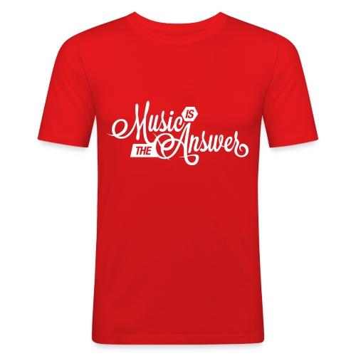 Music is the answer - Miesten tyköistuva t-paita