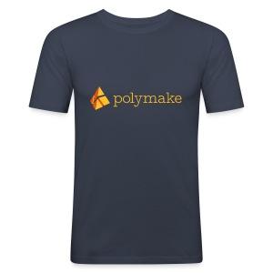 polymake men's slim fit shirt (orange) - Men's Slim Fit T-Shirt
