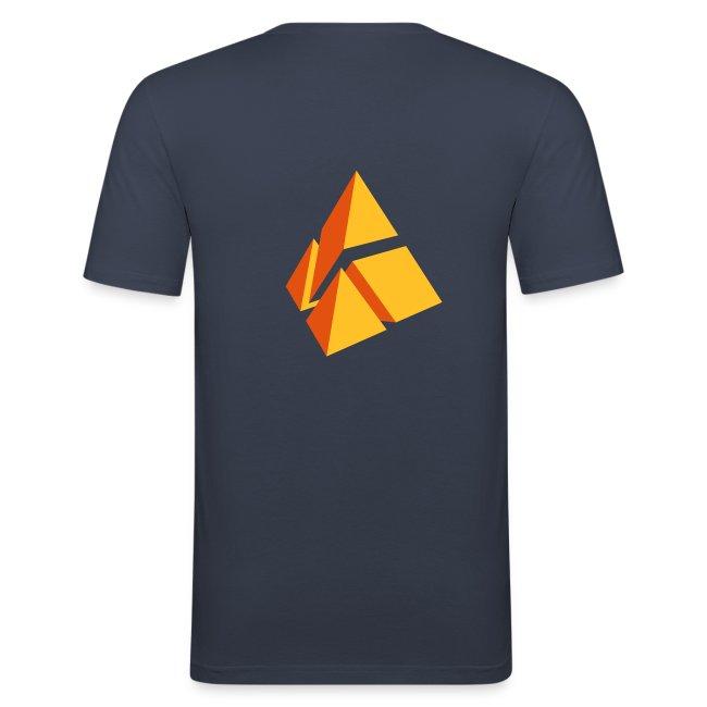 polymake men's slim fit shirt (orange)