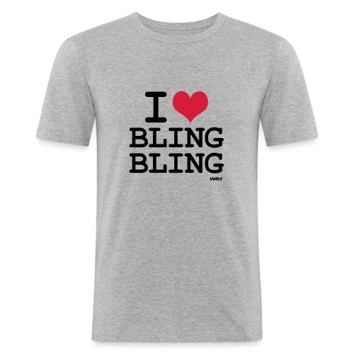 i love bling bling - T-shirt près du corps Homme