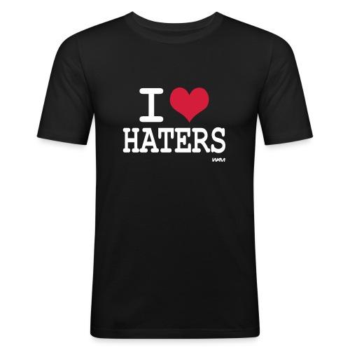 i love haters - T-shirt près du corps Homme