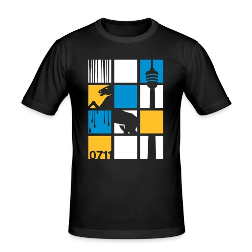 0711 SQUARES - Männer Slim Fit T-Shirt