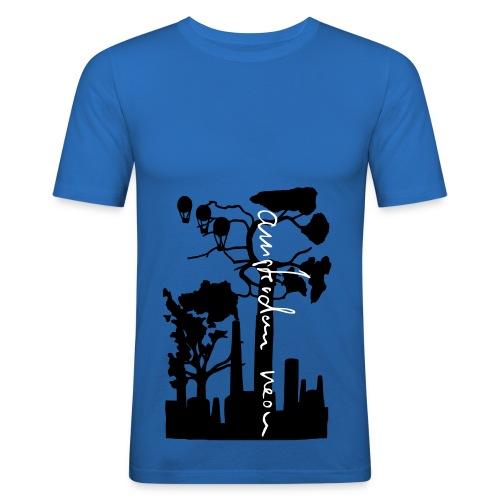 Kapitalismus von Amsterdam Neon - T-Shirt blau - Männer Slim Fit T-Shirt