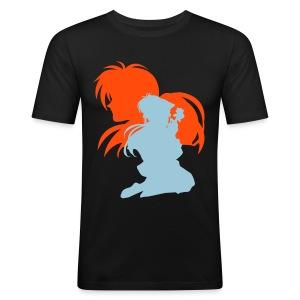 Kenshin x Kaoru ~ Limited ~ Black [Male] - Men's Slim Fit T-Shirt