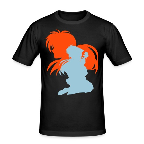 Kenshin x Kaoru ~ Limited ~ Black [Male] - Men's Slim Fit T-Shirt