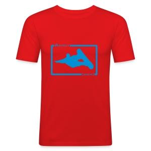 Aspect Boarder (Orange) - Men's Slim Fit T-Shirt