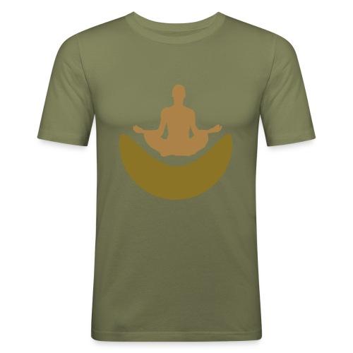Meditation T-Shirt - Männer Slim Fit T-Shirt