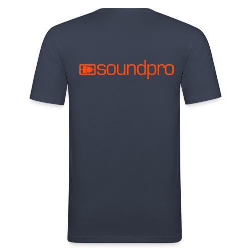 Männer Slim Fit T-Shirt Orange Logo - Männer Slim Fit T-Shirt