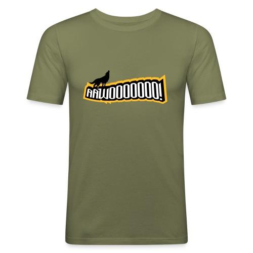 Copehagen Wolves HOWL Fanshirt - Männer Slim Fit T-Shirt