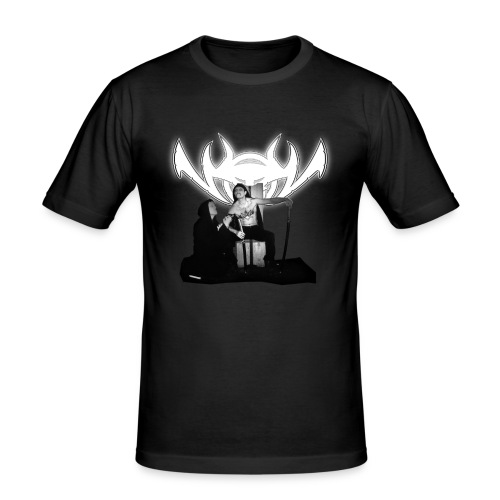 NinjaLiebe F/B Slim - Männer Slim Fit T-Shirt