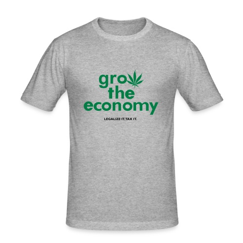 Grow The Economy - Men's Slim Fit T-Shirt