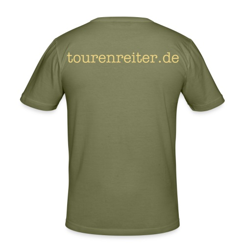 "Mens Slim Fit Standard ""tourenreiter.de"" - Männer Slim Fit T-Shirt"