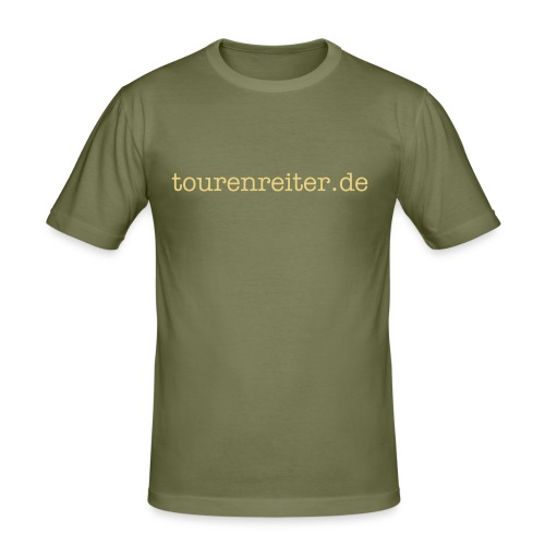 "Mens Slim Fit ""ride like the wind"" - Männer Slim Fit T-Shirt"